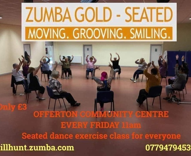 Zumba Gold (seated) - Offerton community centre - Main Hall