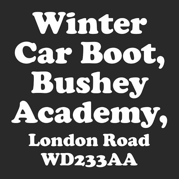 Bushey Winter Car Boot Sale