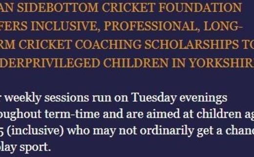 Ryan Sidebottom Cricket Foundation