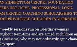 Ryan Sidebottom Cricket Foundation